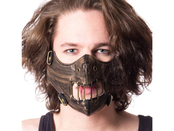 Hannibal Half Face Mask Silence of the Lambs Poizen Industries