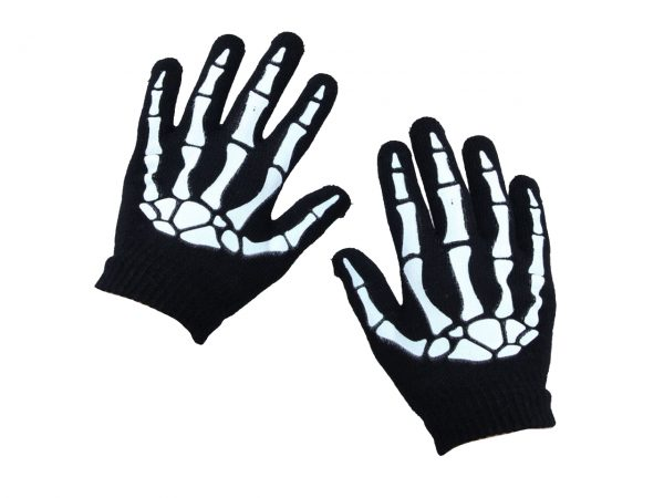 Skeleton Hand Gloves Poizen Industries