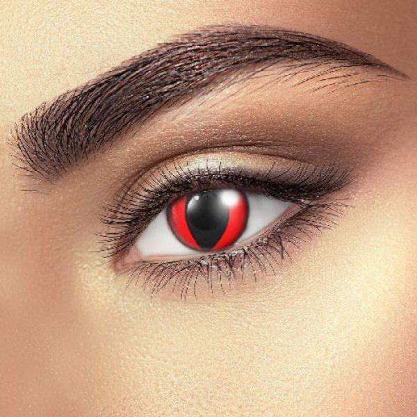 Funky Vision Eye Fusion Eye Accessories Red Cat Eye 90 Days