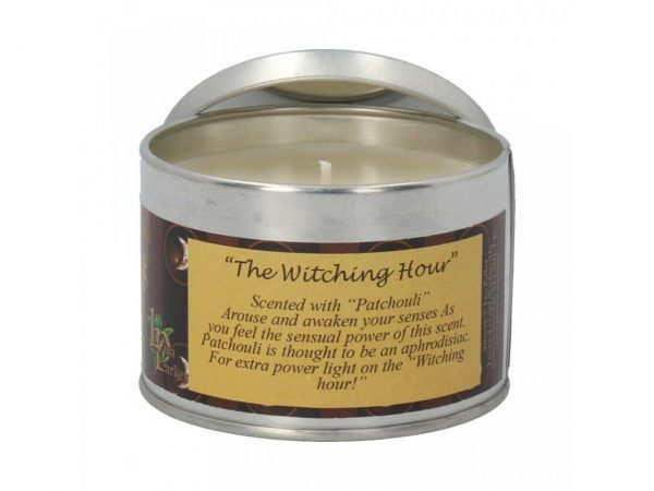 Witching Hour Lisa Parker Cat Spiritual Tin Candle Patchouli Nemesis Now