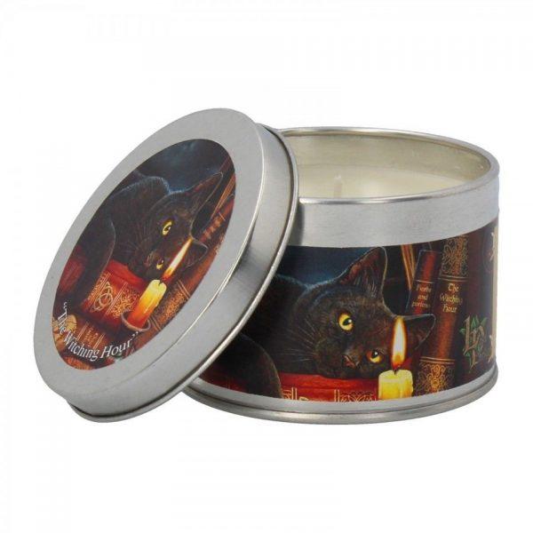 Witching Hour Lisa Parker Cat Spiritual Tin Candle Patchouli Nemesis Now