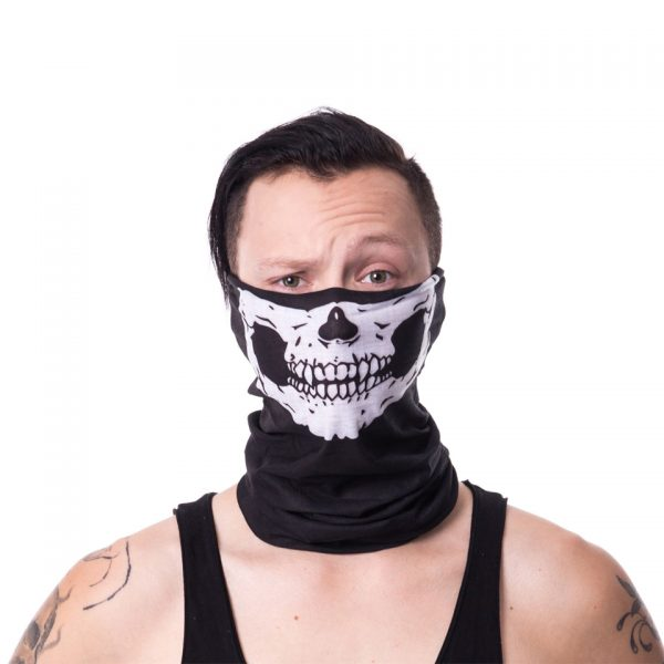 Skull Skeleton Jaw Face Snood Mask Poizen Industries