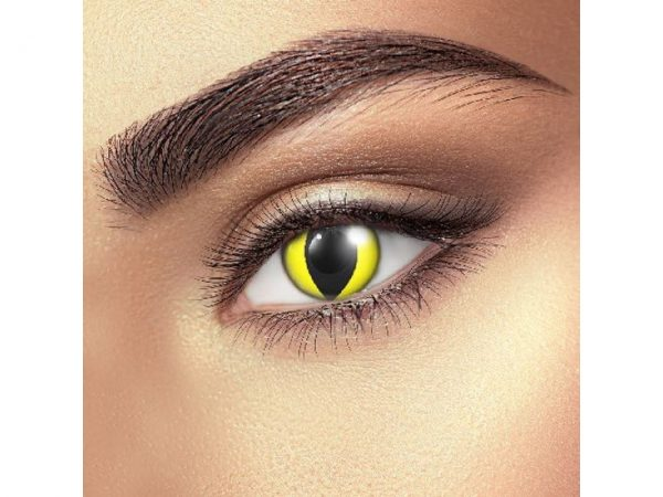 Funky Vision Eye Fusion Eye Accessories Yellow Cat Eye Daily