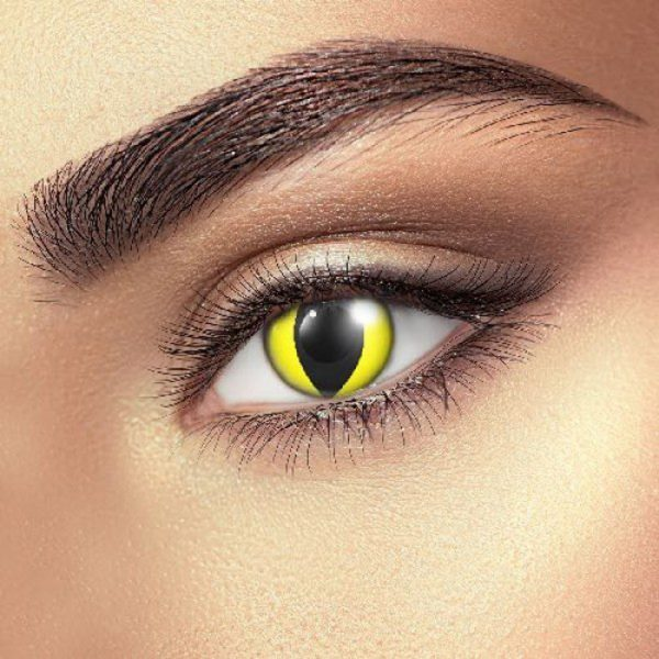 Funky Vision Eye Fusion Eye Accessories Yellow Cat Eye 90 Days