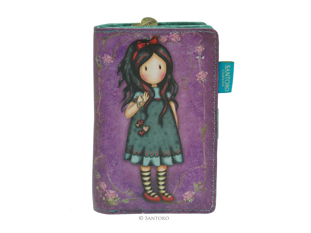 Santoro Gorjuss Small Purse Wallet Cosmetics Case Accessory Case Pulling On Your Heart Strings