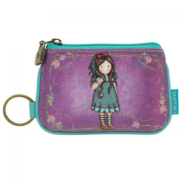 Santoro Gorjuss Keychain Zip Purse Wallet Cosmetics Case Accessory Case Pulling On Your Heartstrings