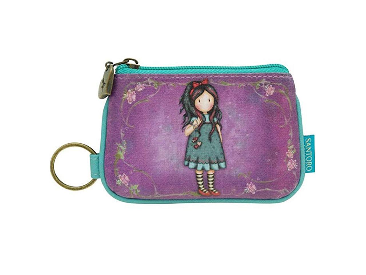 Santoro Gorjuss Keychain Zip Purse Wallet Cosmetics Case Accessory Case Pulling On Your Heartstrings