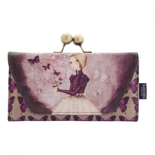 Santoro Mirabelle Deluxe Clasp Purse Wallet Cosmetics Case Accessory Case Amethyst Butterfly