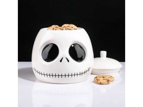 Nightmare Before Christmas Cookie Jar Jack Skellington Head Disney Skeleton Skull Storage