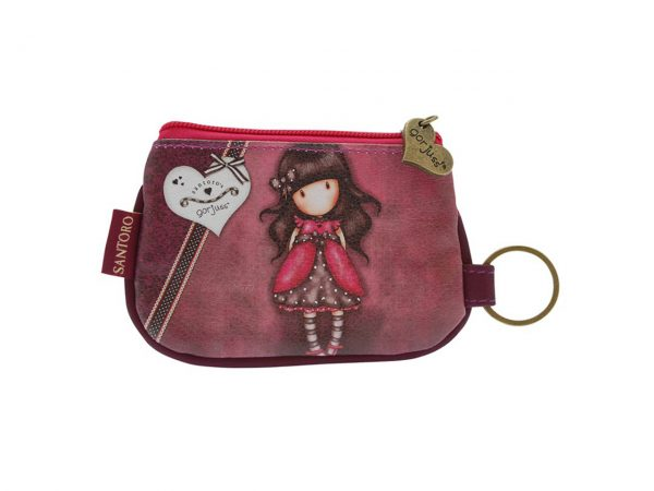 Santoro Gorjuss Keychain Zip Purse Wallet Cosmetics Case Accessory Case Ladybird