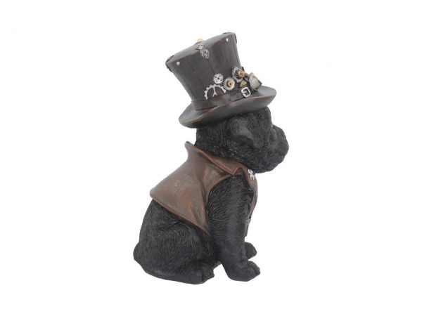 Cogsmiths Dog Steampunk Puppy Waistcoat Leather Resin Goggles Top Hat Inventor Nemesis Now