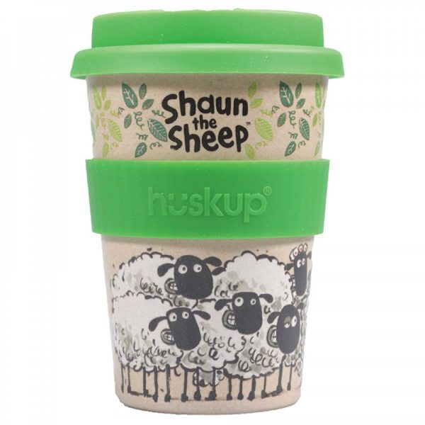 Shaun The Sheep Travel Mug Huskup Rice Husk Recyclable Save The Trees Aardman Kitchenware Drinkware Home Decor Cartoon