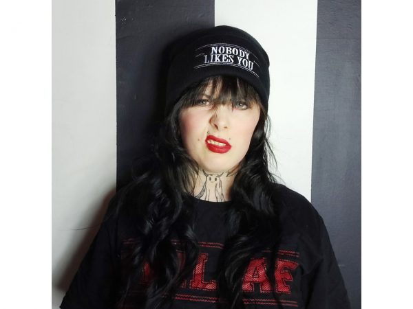 Nobody Likes You Embroidered Knitted Folded Beanie Hat Alternative Gothic Darkside Clothing Fashion