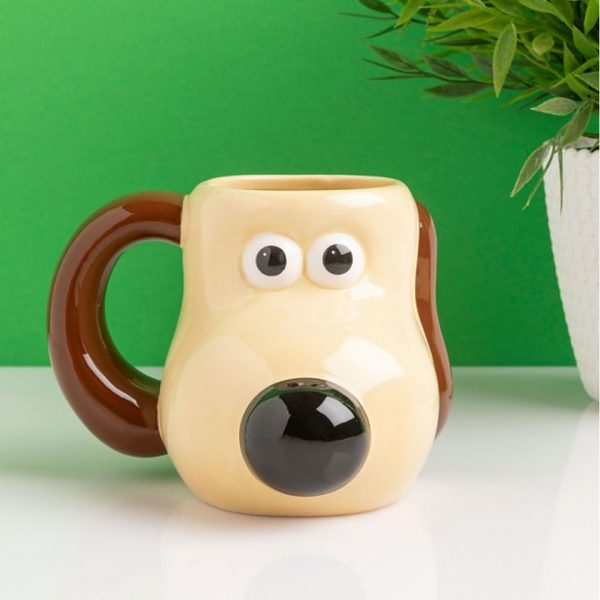 Wallace & Gromit Shaped Mug Wrong Trousers Half Moon Bay Aardman Drinkware Kitchenware Home Decor Cartoon