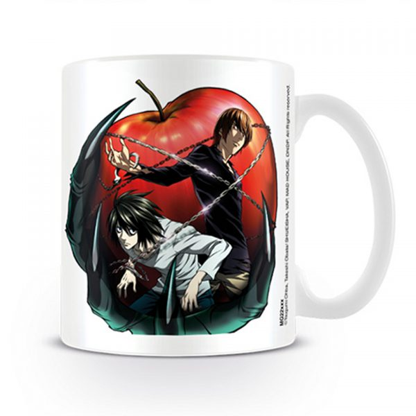 Death Note Apple Mug Anime Manga Gothic Dark Shinigami Ryuk Light Official Merchandise Collectable Soul Reaper Death God Kira Eru Ryuzaki