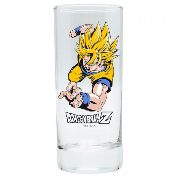 Dragon Ball Z Goku Super Saiyan Drinking Glass Simple Minimalist Yellow Kitchenware Drinkware Manga Anime Alternative Official Merchandise Collectors