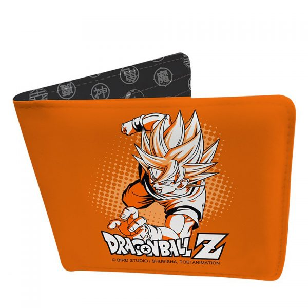 Dragon Ball Z Goku Super Saiyan Vinyl Wallet Simple Minimalist Black White Orange Accessory Manga Anime Alternative Official Merchandise Collectors
