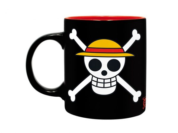 One Piece Monkey D. Luffy Mug Straw Hat Pirates Jolly Roger Black Red New World Kitchenware Drinkware Manga Anime Alternative Official Merchandise Collectors