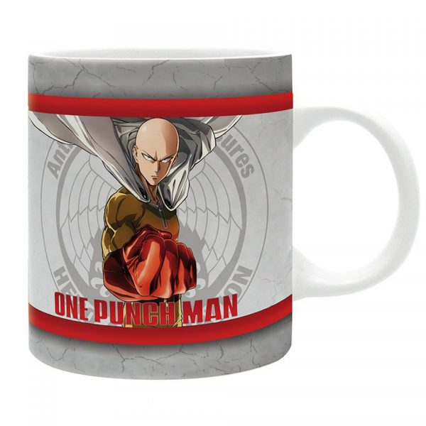 One Punch Man Heroes Mug Saitama Genos Silver Fang Terrible Tornado Anime Manga Collectors Alternative Official Merchandise