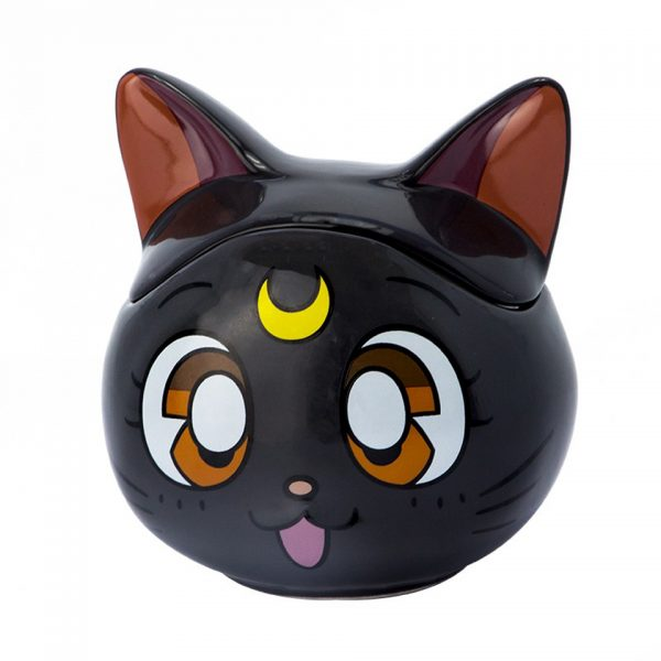 Sailor Moon 3D Cat Shaped Black Luna Mug Kitchenware Drinkware Manga Anime Alternative Official Merchandise Collectors
