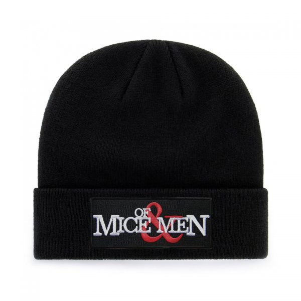 Of Mice And Men Embroidered Knitted Folded Beanie Hat Alternative Gothic Extreme Largeness Fashion