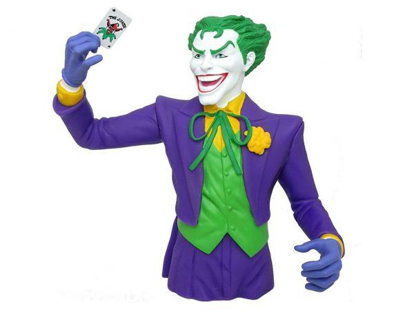 The Joker Bust Coin Bank DC Universe Comics Batman Money Box Novelty