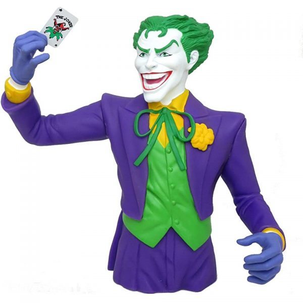 The Joker Bust Coin Bank DC Universe Comics Batman Money Box Novelty