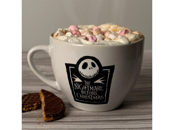 Nightmare Before Christmas Cappuccino Large Mug Jack Skellington Head Disney Skeleton Skull Pyramid International