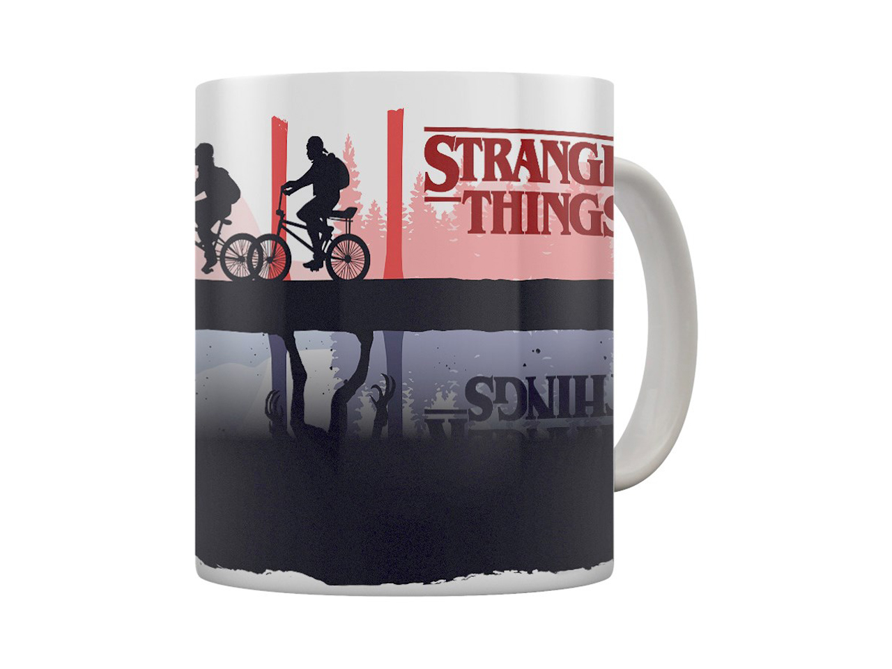Official Stranger Things Heat Changing Mug Demogorgon Hawkins Mind Flayer Netflix Pyramid International Drinkware Kitchenware Home Decor