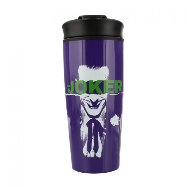 DC Comics Universe The Joker Straight Outta Arkham Gotham Metal Travel Mug Pyramid International Drinkware Kitchenware Home Decor Cartoon Suicide Squad Birds Of Prey
