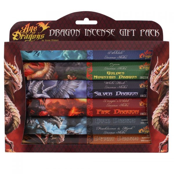 Dragon Incense Stick Gift Pack Anne Stokes Fairy Dragon Angel Unicorn