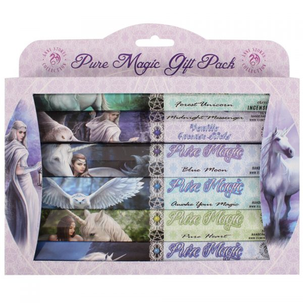Pure Magic Incense Stick Gift Pack Anne Stokes Fairy Dragon Angel Unicorn Owl