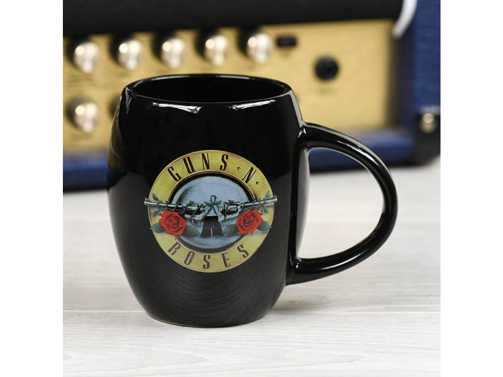 Guns N' Roses Oval Mug Official Band Merch Bullet Logo Iconic Music Rock Classic Retro Nostalgia