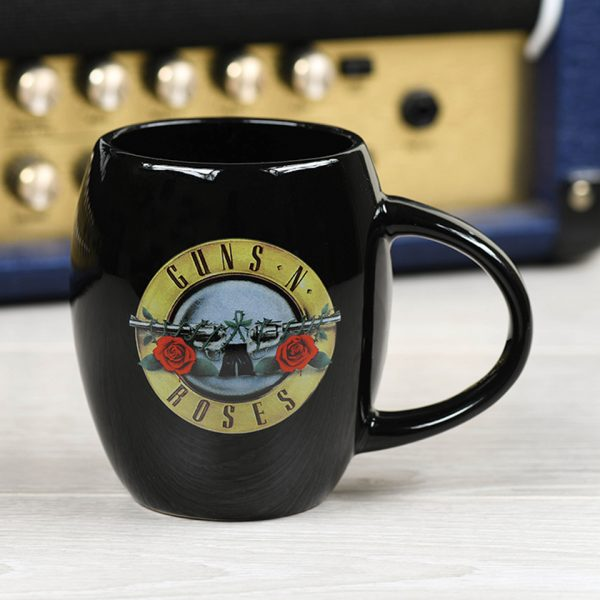 Guns N' Roses Oval Mug Official Band Merch Bullet Logo Iconic Music Rock Classic Retro Nostalgia