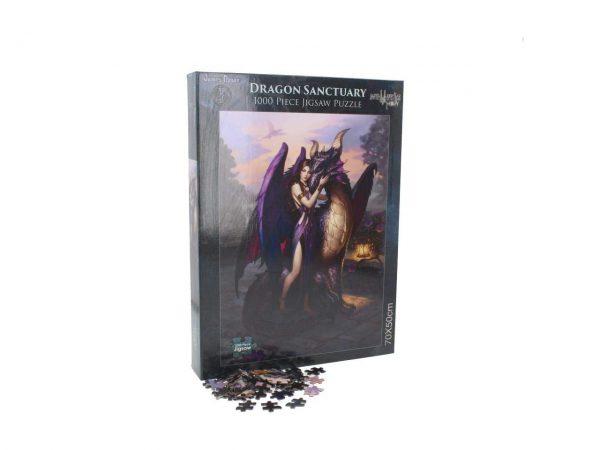Dragon Sanctuary Jigsaw Puzzle James Ryman Angel Fantasy Gothic Games Nemesis Now