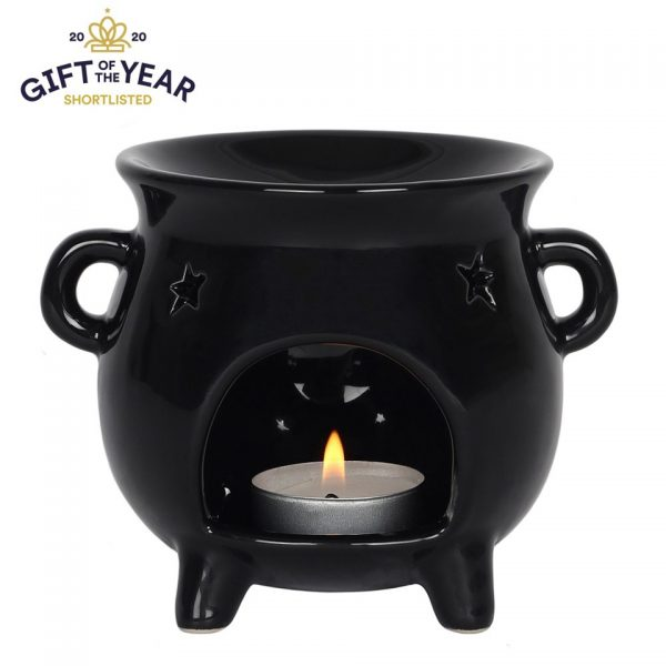 Cauldron Oil Burner Black Magic Wax Melt Incense Something Different Witchcraft Occult Wizardry Stars Pentagram