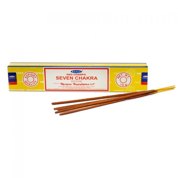 Satya Seven Chakra Boxed Incense Sticks Cleansing Aromatherapy Fragrance Aroma