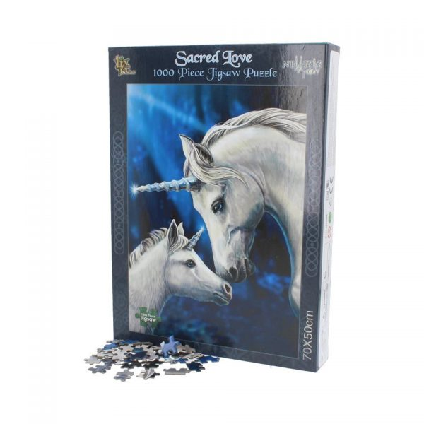 Sacred Love Jigsaw Puzzle Lisa Parker Animal Unicorn Mare Foal Fantasy Gothic Games Nemesis Now