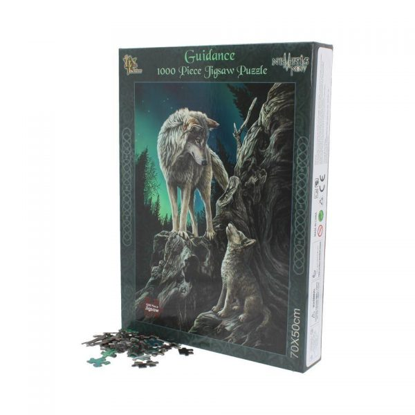 Guidance Jigsaw Puzzle Lisa Parker Wolf Pup Northern Lights Fantasy Gothic Games Nemesis Now