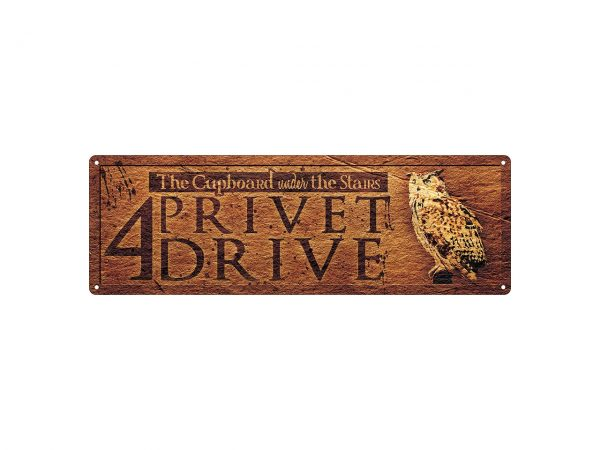 Slim Tin Sign Grindstore Wall Piece Iconic Movie Film Show Harry Potter 4 Privet Drive