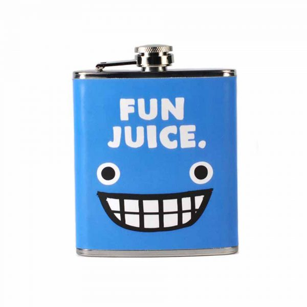 Jolly Awesome Fun Juice Hip Flask Half Moon Bay Novelty Gift