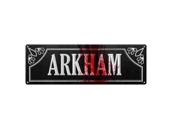 Slim Tin Sign Grindstore Wall Piece Iconic Movie Film Show DC Comics Batman Arkham Asylum