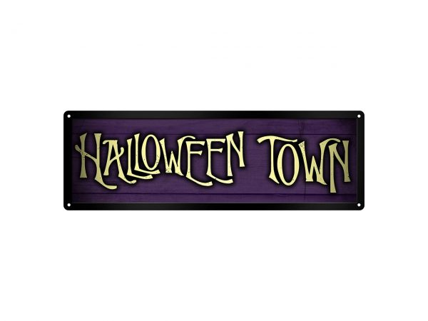 Slim Tin Sign Grindstore Wall Piece Iconic Movie Film Show Nightmare Before Christmas Halloween Town