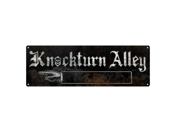 Slim Tin Sign Grindstore Wall Piece Iconic Movie Film Show Harry Potter Knockturn Alley