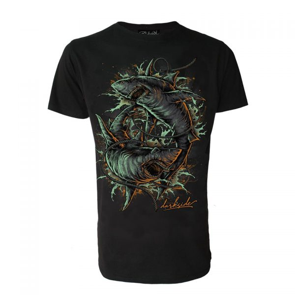 Shark Attack T-Shirt Darkside Clothing Alternative Fashion