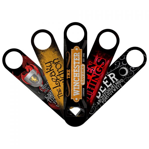 Bar Blade Bottle Opener Grindstore Stainless Steel Cult Iconic Ouija Board Beer Wiccan Withcraft Harry Potter The Leaky Cauldron Stranger Things Open The Winchester Tavern Shaun Of The Dead Game Of Thrones I Drink Things And Know Things