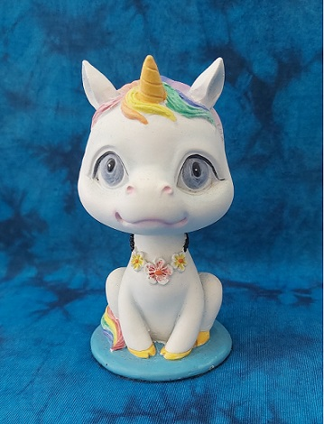 Bobicorn Unicorn Bobble head from nemesis now