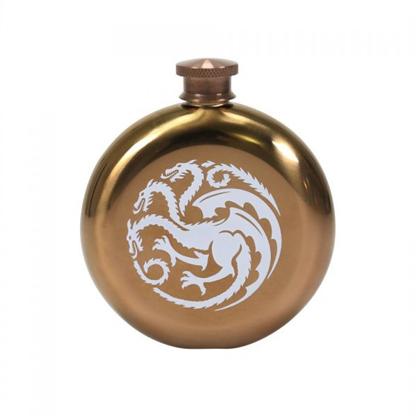 Mother Of Dragons Hip Flask Game Of Thrones House Targaryen Sigil