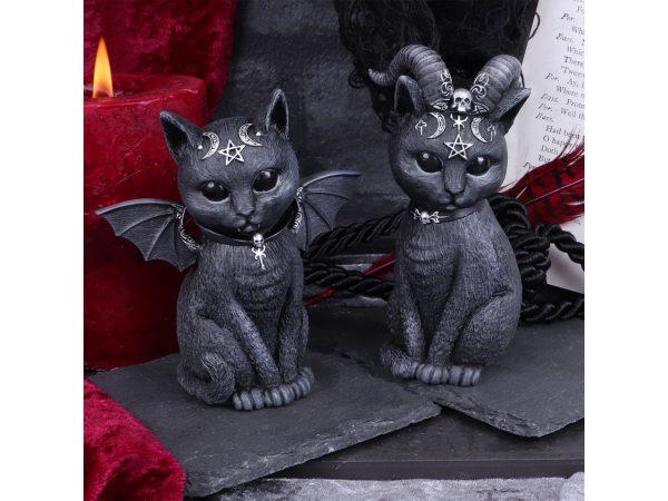 Pawzuph Malpuss Cat Nemesis Now Baphomet Occult Witchcraft Familiar Spiritual Dark Spirits Figure Magic Pentagram