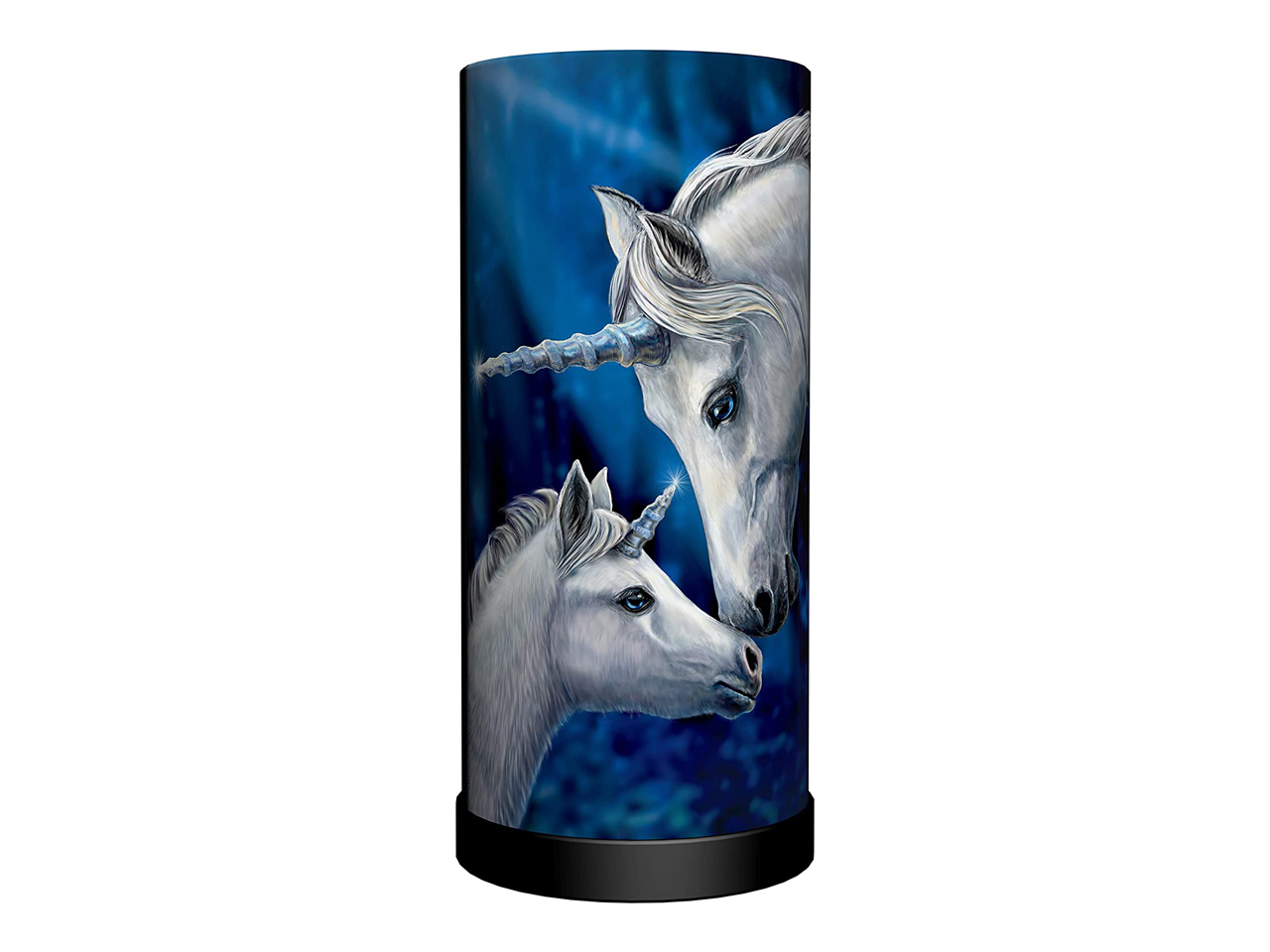 Sacred Love Cylindrical Round Table Lamp Light Mains Powered Nemesis Now Unicorn Lisa Parker